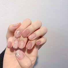 nail art at home Nail Swag, Korean Nail Art, Korean Nails, Asian Nail Art, Minimalist Nails, Stylish Nails, Trendy Nails, Cute Nail Art, Cute Nails