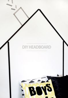 DIY Faux Headboard -