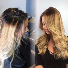 """Haley Ferreira (@mermaidhairs), a National Educator for John Paul Mitchell Systems atCutting Loose Salon, Sarasota, FL, says her client was """"upset with her hair because the previous stylist was 'experimenting' with balayage and left bleed marks, brassiness and comprimised ends. For a softer look I decided to do this look for the most flawless finish."""" Here she shares the HOW TO:"""
