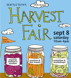 Seattle Tilth's Harvest Fair is one of our favorite summer events. Our editor Jill will be there at noon signing our cookbook! Sept. 8, 10-4