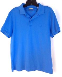 Nautica Men's Blue Polo Short Sleeve Casual Shirt Size Medium #Nautica #PoloRugby