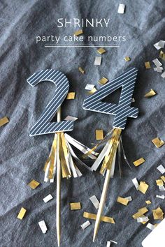 Sparkly Numbers for cake