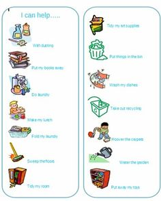 Kids Cleaning Check List - great topic for discussing helping out