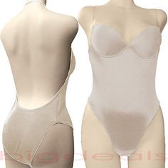 Backless Full Body Shaper Bikini Convertible Seamless Low Back Max Cleavage 9008