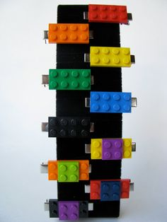 lego hair clips...A could wear one to her brothers Lego themed party!