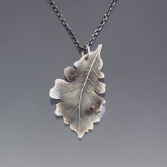 Rangers apprentice silver oak leaf pendant oak leaves leaves bur oak leaf necklace etched silver oak leaf by lisahopkins aloadofball Image collections