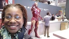 At the avenger booth. No idea the relevance to technology though. LOL!