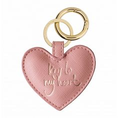Pink Sentiment heart keyring