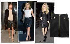 What do Olivia Palermo, Ali Larter, and Ellie Goulding all have in common? Impeccable taste in skirts, apparently. The three starlets were each separately spotted wearing J Brand's Maxine style from the designer's fall 2013 collection.