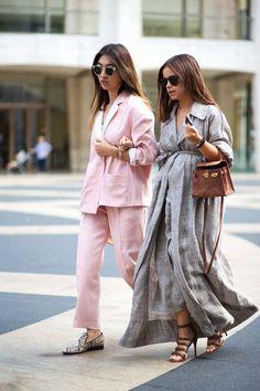 Chic pairing. #streetstyle #NYFW Miroslava Duma
