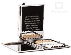 Zigarettenetui mit Gravur als sehr persönliches Geschenk für Raucher. #geschenk #rauchen #gravur #smoking #gift