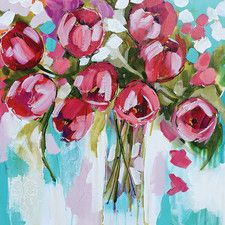 Tulip Splendour by Amanda J. Brooks Painting Print on Canvas