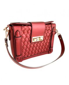 Retro Woven Rectangular Shoulder Bag