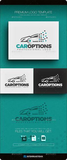 Car Options Logo Template (AI Illustrator, Resizable, CS, 2015 logo, attractive, automobile, automotive, best logo, business, business logo, cars, cmyk, corporate, creative logo, dealer, logo template, object, option, print, race cars, repair, show, sports car, stylish, unique, vehicle)