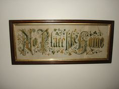 Antique 1800s Victorian Punch Paper MOTTO by PastPossessionsOnly