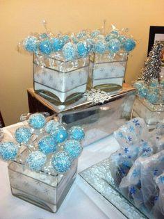 56 Ideas Party Winter Wonderland Cake Pop For 2019 Winter Wonderland Birthday, Winter Birthday, Frozen Birthday Party, Birthday Parties, Frozen Party, Baby Shower Treats, Baby Shower Cake Pops, How To Make Wedding Cake, Baby Shower Winter