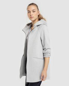 Abrigo de mujer Only gris con capucha Moda Online, Athletic, Jackets, Fashion, Little Girl Clothing, Feminine Fashion, Cowls, Wraps, Gray