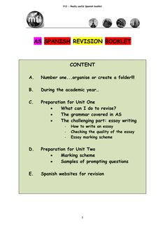 AS Spanish Revision Guide