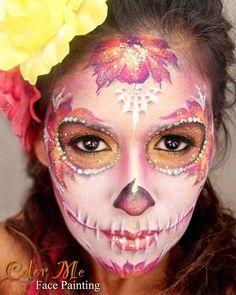 Sugar skull face painting make up