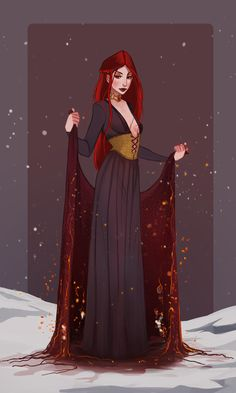 ArtStation - Melisandre - Character Design Challenge: GoT, Juliette Devillers