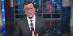 Stephen Colbert fires back at critics of his...