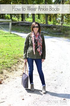How to Wear Ankle Boots with lots of photos and shopping links! Focusing on styling ankle boots for the over 40 woman. READ MORE: http://www.jolynneshane.com/how-to-wear-ankle-boots.html