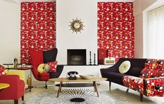 1950s wallpaper/fabric collection styled by Charis White. Photography by Mel Yates.