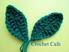 كروشيه ورقة شجر   كروشيه كافيه   Crochet Cafe