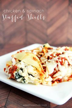 These Chicken and Spinach Stuffed Shells are amazingly delicious! I can't wait to make this easy recipe again for dinner soon!