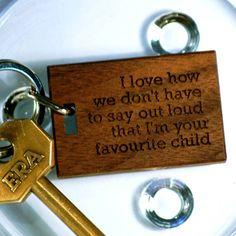 'Favourite Child' Keyring from notonthehighstreet.com