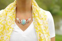 Mixing colors.  Necklace @CS Gems Vintage Jewelry Vintage Modern Jewelry www.etsy.com/shop/csvintagegems