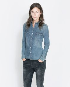 Image 1 of BASIC DENIM SHIRT from Zara