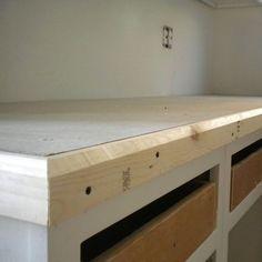 easy diy concrete counters, concrete masonry, concrete countertops, countertops, diy, how to, kitchen design, Add a trim piece around the edges Fancy schmancy