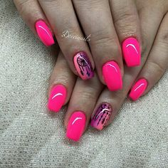 Best Sexy Pink Color Nails Art For Prom And Weekend Party - Page 49 of 92 - Trendy Elves Pink Nail Art, Pink Nails, Mani Pedi, Manicure, Nail Colors, Color Nails, Pretty Nails, Pink Color, Hair And Nails