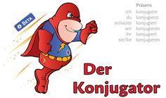 Du bist dir bei der Konjugation für ein deutsches Verb nicht sicher? Gib im Lingolia-Konjugator den Infinitiv ein und lass dir das Verb für alle Zeiten (Präsens, Perfekt, Präteritum, Plusquamperfekt, Futur I und II) sowie im Konjunktiv und Imperativ anzeigen.