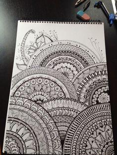 Dessin que je viens de réaliser. Inspiration Zentangle.
