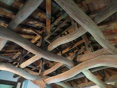 Rafters and curved crossbeams, Hikone Castle Keep