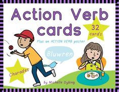 Verbs: Verb action cards These cards are great for teaching students the… Verb Activities For First Grade, 1st Grade Writing, 1st Grade Worksheets, English Activities, Autism Activities, Speech Therapy Activities, Can Verb, Verb Games, Teaching Verbs