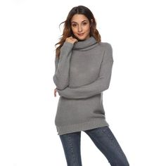 Warm Turtleneck Sweater For Women Outfit, The girl is quite attractive. The women are normally attractive with a wonderful assortment of body types. There's an extensive quantity of detailed Jumpers For Women, Sweaters For Women, Fall Outfits, Casual Outfits, Travel Outfits, Casual Trends, Vintage Inspired Outfits, Boutique Clothing, Turtle Neck