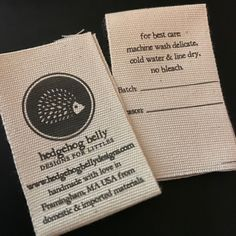 MADE IN U.S.A 50 PCS WHITE WOVEN SEW CLOTHING CARE LABELS OF IMPORTED FABRIC