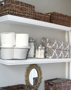 I could make this! maybe add moulding to an old ikea shelf