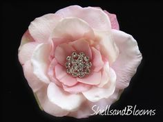 KENLY  Blush Pink  Wedding Bridal Hair Clip Pin by ShellsandBlooms, $24.00