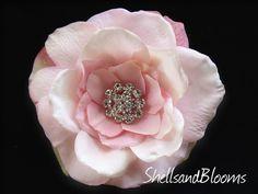 KENLY  Blush Pink  Wedding Bridal Hair Clip Pin by ShellsandBlooms, $24.00