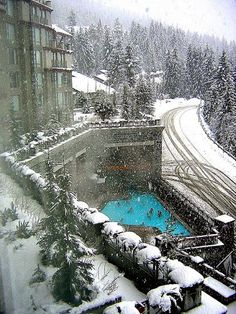 Swimming in the snow  by Westcoast Weezie