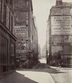 Charles Marville. 'Rue Saint-Jacques (fifth arrondissement)' 1865-1866