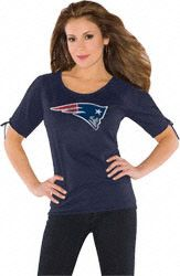 New England Patriots Women's Slit Shoulder Top from Touch by Alyssa Milano
