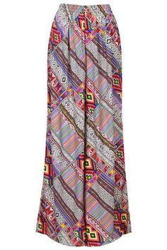 flowy print wide leg pants $80