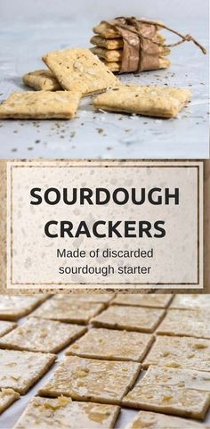 Sourdough crackers made of discarded sourdough starter. It always feels bad to waste food, but these crackers will solve your discarded starter dilemma. Besides, the taste so good you probably want to make them even if you don't have any discarded starter Bread Starter, Sour Dough Starter, Sourdough Bread, Fermented Foods, Artisan Bread, Bread Baking, Cooking Recipes, Bread Recipes, Sourdough Recipes Starter