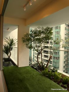 Modern balcony garden terrace balcony garden outdoor for Balcony ideas singapore