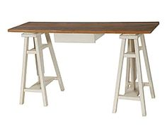 Bureau tréteaux pin massif jimi meubles pinterest bureau